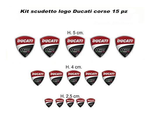 Vulturbike Aufkleber Scuderia Ducati Corse 15 Stücke