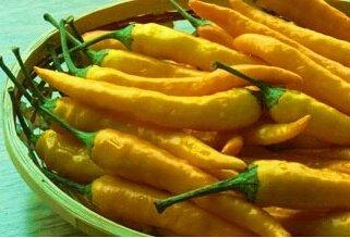Jaune Graines Capsicum Frutescens poivre, piment semences, Graines Légumes, 50 GRAINES