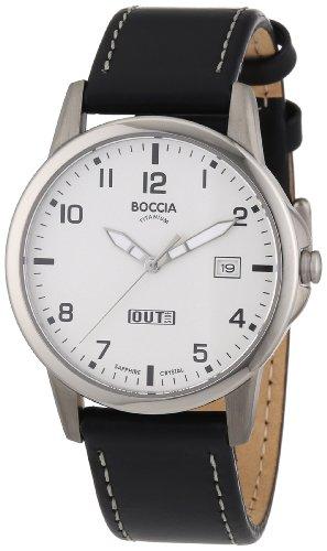 Boccia Herren-Armbanduhr Leder 3625-02