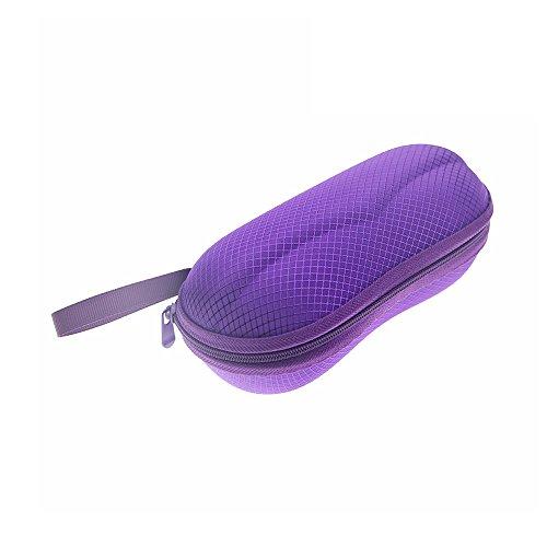 Tong Yue Peanut Box - Funda para gafas de sol universal con cierre de cremallera y lazo para cinturón