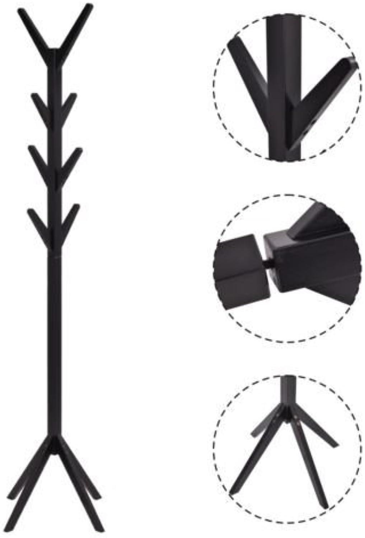 Coat Rack Tree Stand Clothes Holder Hat Hanger Hall Stand Umbrella Wood Black