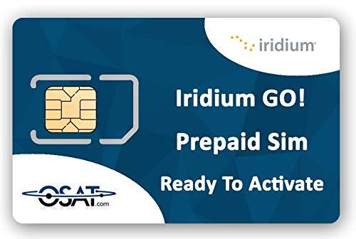 OSAT Iridium GO! Solo Tarjeta SIM Satelital Prepaga (Sin Tiempo de Uso)