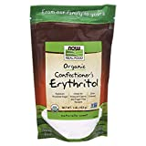 NOW Foods, Organic Confectioner's Erythritol Powder, Replacement for Powdered Sugar, Zero Calories, 1-Pound