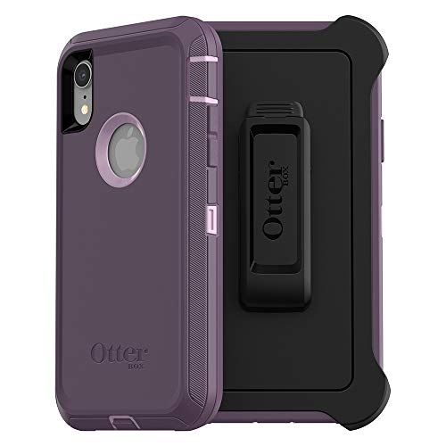 OtterBox DEFENDER SERIES SCREENLESS EDITION Case for iPhone Xr - Frustration Free Packaging - PURPLE NEBULA (WINSOME ORCHID/NIGHT PURPLE)