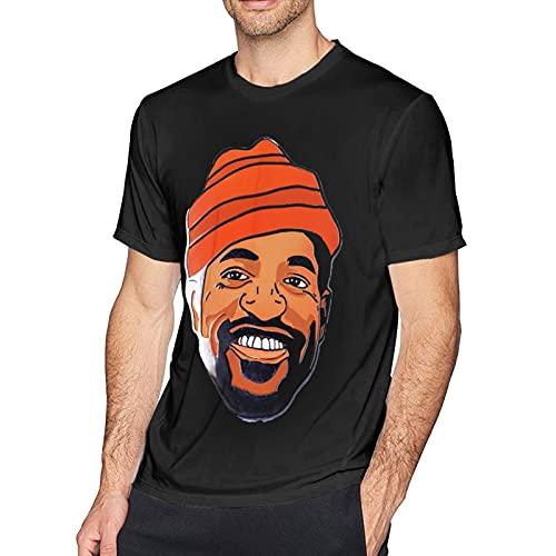 NANCYAA Andre 3000 - Camiseta de manga corta con cuello redondo para hombre, color negro, Negro, XL