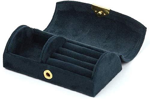 MWXFYWW Joyero para Mujer Mini Maleta Caja de Almacenamiento de Viaje versátil Joyero portátil Bolsa de Almacenamiento de Terciopelo con Cuentas para Pulsera Collar Pendientes Anillos