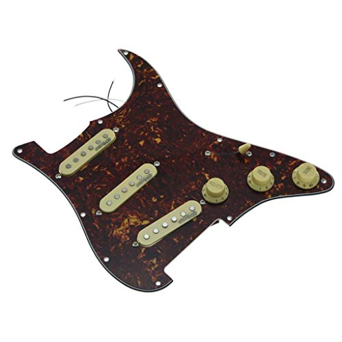 KAISH Vintage Tortoise Loaded Electric Guitar Pickguard Prewired Pickguard with Wilkinson Pickups for Fender Strat Made In USA or Mexico