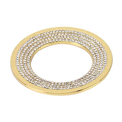 Auto decoratieve ring mode auto aluminium stuurwiel decoratie ring met diamanten, geschikt voor Volkswagen goud
