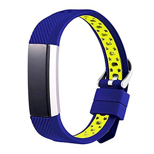 SUNEVEN Fitbit Alta/HR Ersatz Fashion Sports Silikon Armband Gurt, Band für Fitbit Alta/HR, Blau