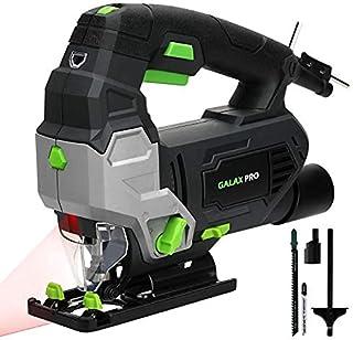 GALAX PRO Jig Saws, 800W 3000 SPM Jig Saw Tool, Max ±45° Bevel Cutting Angle, 6 Adjustable Speeds, 4-Position Orbital Acti...