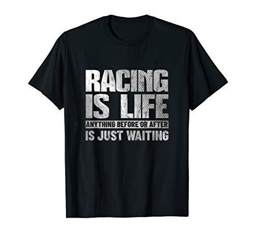 Racing Is Life Funny Auto Racing Mechanic Gift T-Shirt