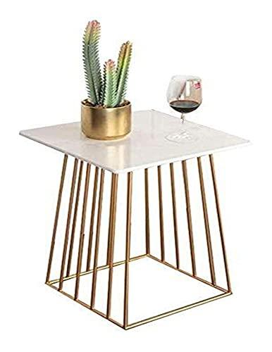 WSHFHDLC tavolino da caffè Tavolino Nordic Sofa Lampada da salotto semplice in marmo piccolo armadio quadrato tavolino armadio semplice elegante decorazione piccoli tavolini (colore: oro)