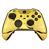 Chrome Gold UN-MODDED Custom Controller Compatible with Xbox ONE Elite Series 2 Soft Touch Finish