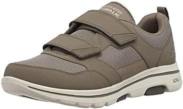 Skechers Men's Gowalk 5 Wistful-Athletic Hook and Loop Walking Shoe with Air Cooled Foam Sneaker, Khaki, 11.5