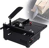 WXFCAS Sierra de mesa portátil, sierra de mesa multifuncional eléctrica, herramientas de corte de metal profesión, corte de ángulo de 0-90 °, hoja de sierra es removible, bajo ruido para BRICOLAJE Met