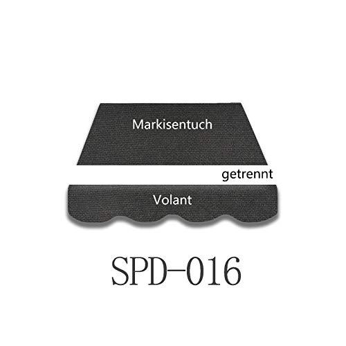 Home & Trends Preiswert Markisen Tuch Markisenbespannung Ersatzstoffe SPD004 Maße 4 x 3 m Markisenstoffen inkl. Volant fertig genäht mit Bordeux