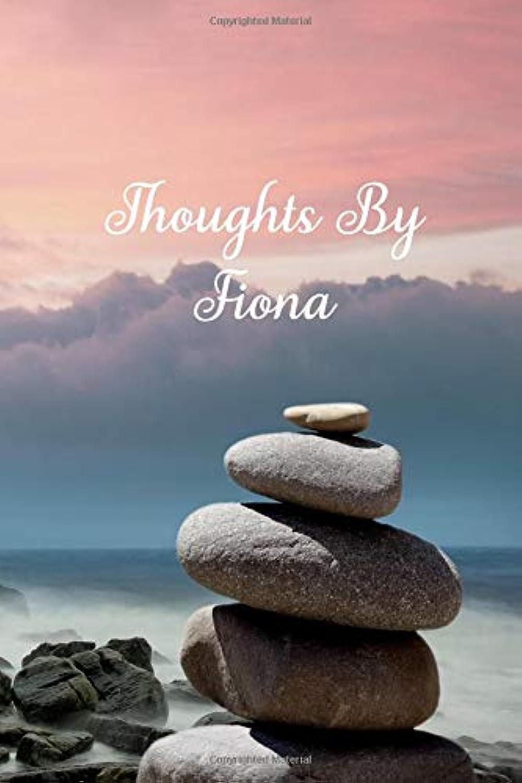服を洗う若さThoughts By Fiona: Personalized Cover Lined Blank Notebook, Journal, Diary For Personal Use Or As A Beautiful Gift For Any Occasion.