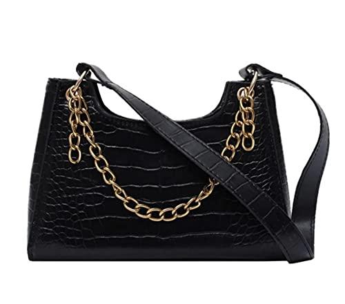 Handbag Women'S Casual Handbag Shoulder Bag Women'S Leather Solid Color Chain Handbag Ladies Girls