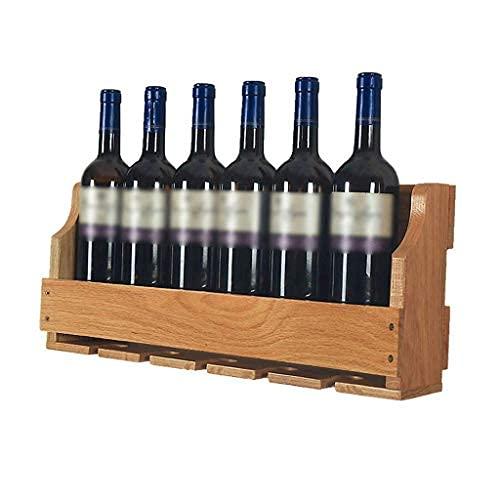 Botellero de Vino Tradicional Botellero de Vino Estante de Vino Botellero de Vino Montado en la Pared, Estante de Exhibición de Botella de Vino de Vidrio de Vino, Soporte de Vidrio de Tallo Largo Reg
