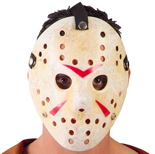 Guirca- Maschera Jason per Travestimento Hockey Horror, Multicolore, 2641