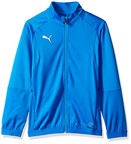 PUMA Unisex-Youth Liga Training Jacket Youth, electric blue lemonade/puma white, M Massachusetts