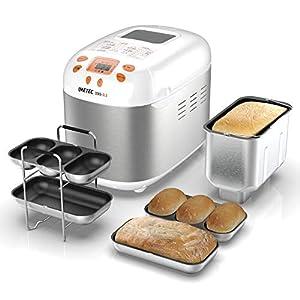 Imetec Zero-Glu - Panificadora, 20 Programas Pan y Dulces, sin Gluten, Accesorios para 3 Formas de Pan, Temporizador Digital, Libro de Cocina, Capacidad 1 kg, Amasar, Levadura y Hornear, 920 vatios