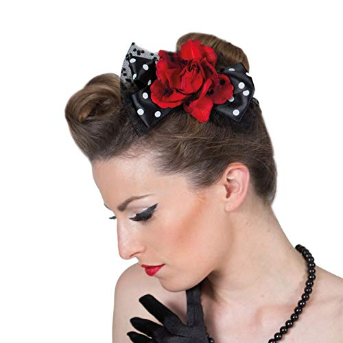 PARTY DISCOUNT Haarspange Rockabilly Rose