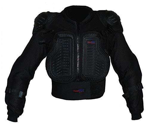 Protectwear PJK-XXS Protectwear Protektorenhemd, Protektorenjacke Kinder für Motocross, Ski, Snowboard, Größe : XXS, Schwarz