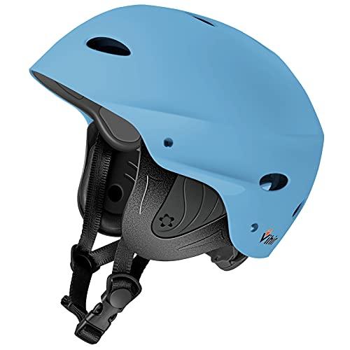 Adult Ski Water Sports Helmet with Ears - Helmet Men Women for Bike Skateboard Boating Kayaking Canoeing Sailing