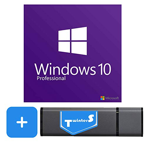 Windows 10 Pro Vollversion 64 Bit Deutsch mit einem Lizenzschlüssel inkl. TwinterS® 8GB USB-Stick mit Windows 10 Pro für die Installation