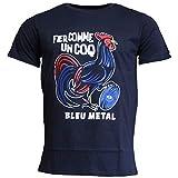 Religion Rugby - T-Shirt Fier comme Un Coq - Bleu Metal - 4XL
