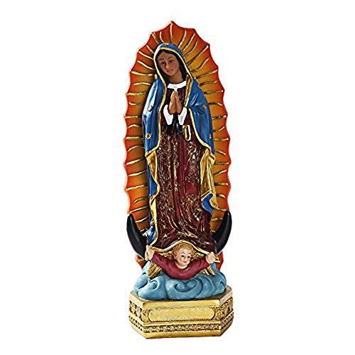 Skulptur Religiöse Unsere Lieben Frau von Guadalupe Jungfrau Maria Grotto Figur, Hause und Garten Dekoration Statue, Harz Skulptur Sammlern Ornament,A