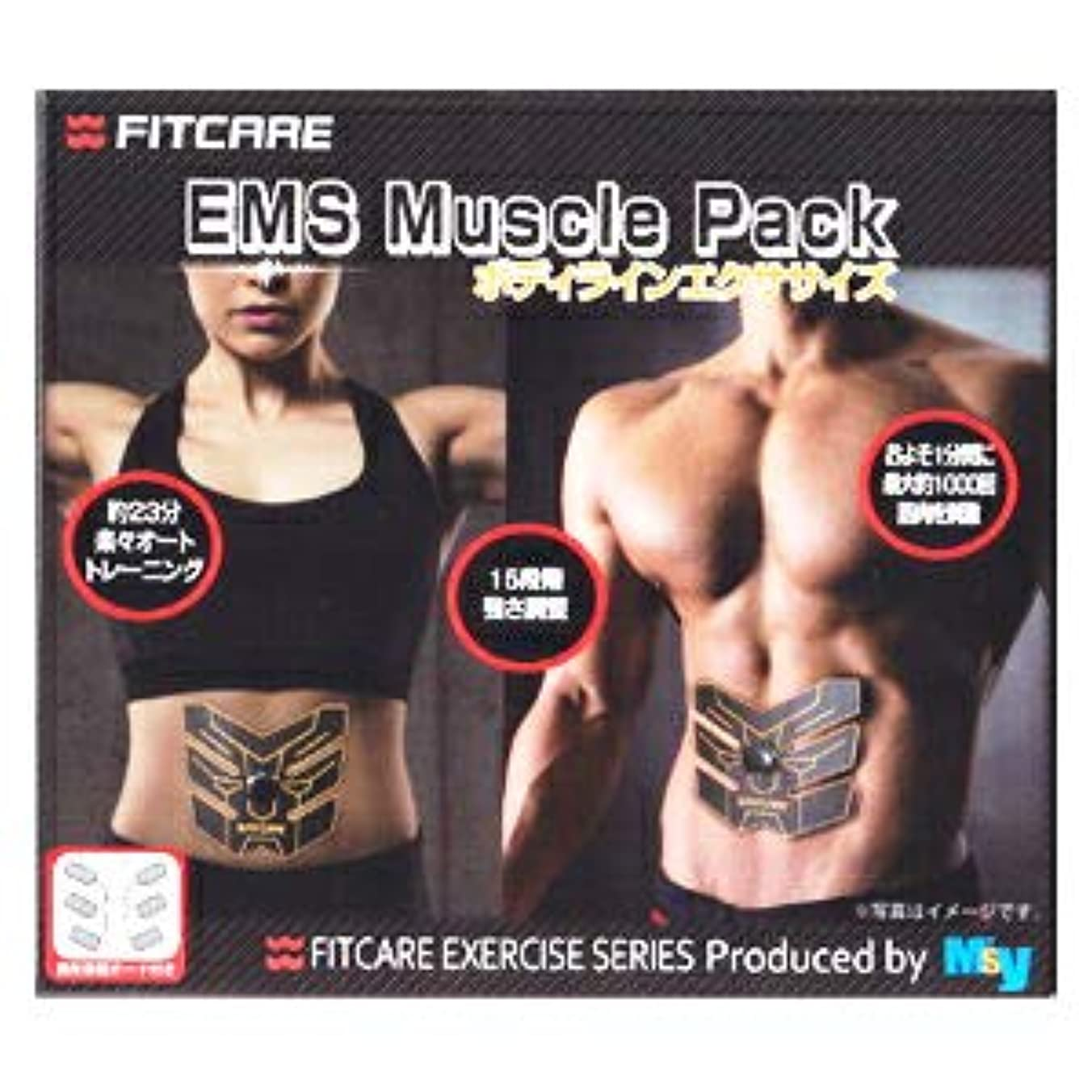 後世促進する日【5個セット】 EMS マッスルパック ボディラインエクササイズ MEM01 CBBK(1セット) ×5個セット