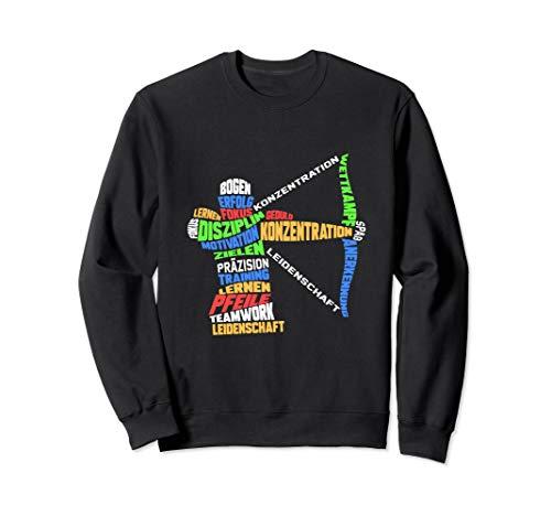 Bogenschießen Pfeile Zielscheibe Wordart Bogenschütze Sweatshirt