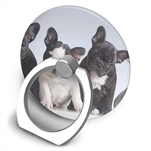 Phone Ring Cell Phone Ring Holder Finger Kickstand,Rotation Stand Grip with Car Mount Compatible with Smartphone-Adorable French Bulldog Puppies Dog