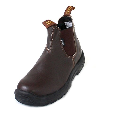 Blundstone Work & Safety Boots, Stivali Chelsea Uomo, Brown Water Resistant, 43.5 EU