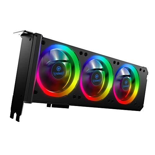 anidees Graphic Card Cooler 3 x 80mm PWM Fan, Support Aura SYNC/MSI Mystic Sync/ASROCK Aura...