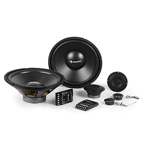auna CS-Comp-10 - Auto Lautsprecher System, Car-HiFi-Komplett-Set, Einbau-Lautsprecher Boxen, 6400W Gesamt-Leistung, 2 x 25cm Subwoofer, 2 x 10cm Mitteltöner, 2 x 4cm Dome-Tweeter, schwarz
