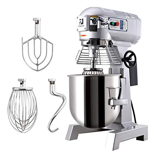 CO-Z 15L Profi Knetmaschine Teigmaschine aus Edelstahl Höhenverstellbar Küchenmaschine Rührmaschine Spülmaschine mit 3 Geschwindigkeit, Edelstahlschüssel, 3 Rührwerkzeuge