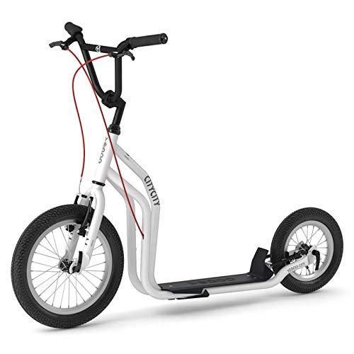 Yedoo City Roller New Modell 2020 | Tretroller White | Kickbike - mit Luftbereifung ab 140 cm - 178 cm Körpergröße bis 120 Kg Scooter kommt teilmontiert im Karton