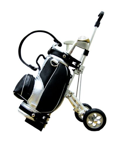 Golftrolley Stifthalter, Miniatur-Golftrolley