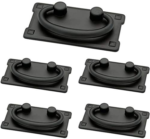 Franklin Brass Flat Black Horizontal Bail Pull, Cabinet Handles and...