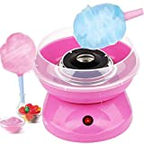 GVAKMM Cotton Candy Machine Cotton Candy Maker Fashion Mini Cotton Candy Machine,Sugar Floss Maker,DIY Marshmallow Machine,Great for Home Party Movie Theater and Birthday Gift (Pink)