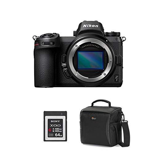 New Nikon Z7 FX-Format Mirrorless Camera Body - Bundle with 64GB Premium XQD Memory Card, Camera Cas...