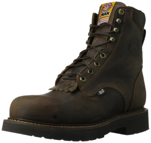 Justin Original Work Men's J-max Steel Toe Lace Up, Rugged Bay Gaucho, 14 D US