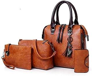 ايست ليذير حقيبة للنساء-بني - مجموعة حقائب اليد