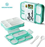 Lexa Miller Bento Lunchbox I Meal Planung I 3 Fächer I Auslaufsicher I Spülmaschinen und Mikrowelle geeignet I BPA Frei I Kinder Frischhaltedose - inkl. gratis E-Book