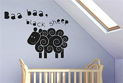 wandaufkleber 3d Wandtattoo Kinderzimmer Baa Baa Black Sheep Kinderreim-Kunst-Abziehbilder für Kinderzimmer Kinderzimmer für Jungen Zimmer für Mädchen Zimmer