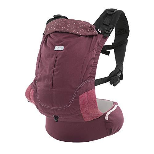 Chicco Ergonomische Babytrage Myamaki Fit, Tragetuch für Babys und Kleinkinder von Geburt bis 15 kg, Evolutionäre Baumwolltrage mit Verstellbarem Sitz und Panel, Rücken- und Nackenstütze