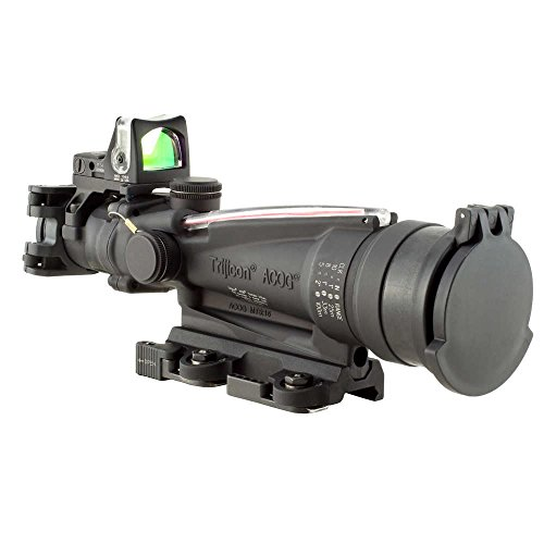 Trijicon ACOG Dual Illuminated Red Horseshoe Rifle Scope with 9.0 MOA RMR Sight and LaRue Tactical Mount